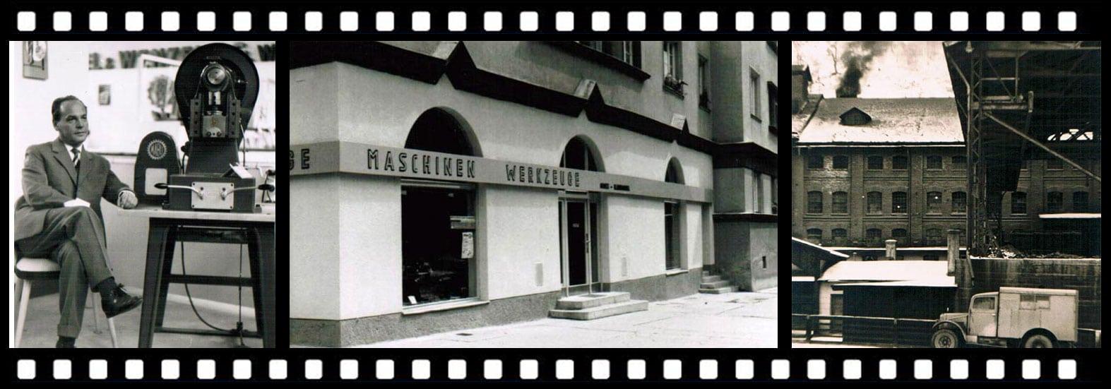 Filmstreifen Firmengeschichte von penteq Laser