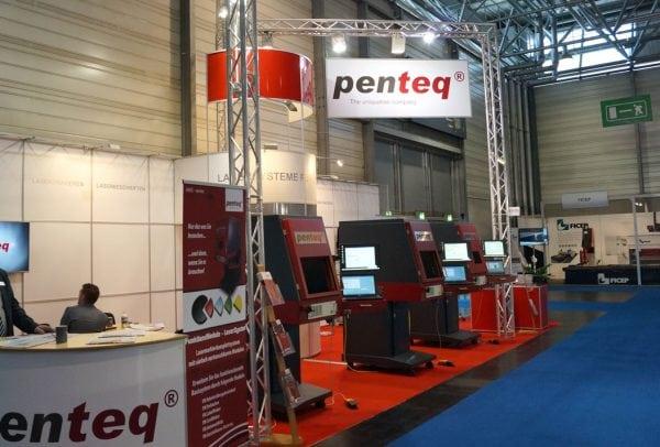 penteq Stand auf der internationalen Messe für Fertigungstechnik
