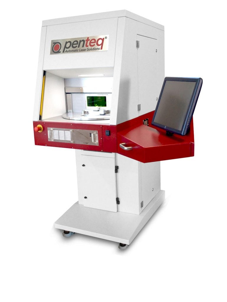 Rundtisch LaserSystem LG200 RT mit drehendem Rundtisch.