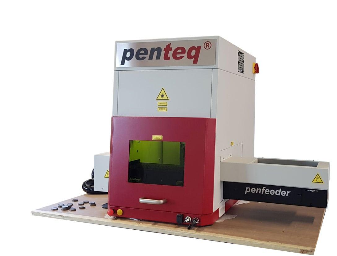 Förderband zur automatischen Teilemanipulation.