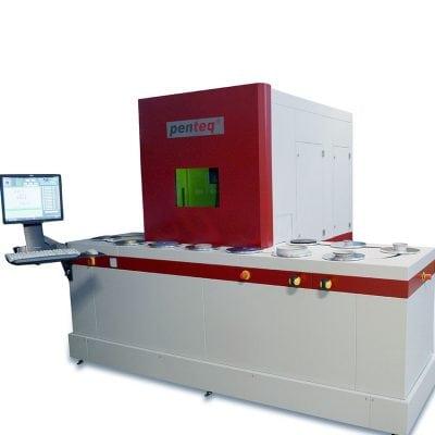Laserbeschriftungsanlage für Schleifscheiben und Ronden