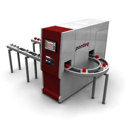 Laserbeschriftungsanlage mit flexiblen Werkstückträgern